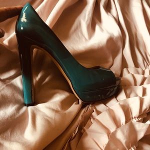 Teal patent Leather